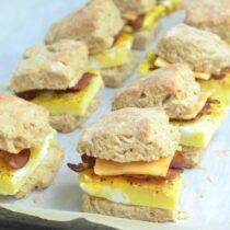 Make egg biscuits in advance in 100 days of real food