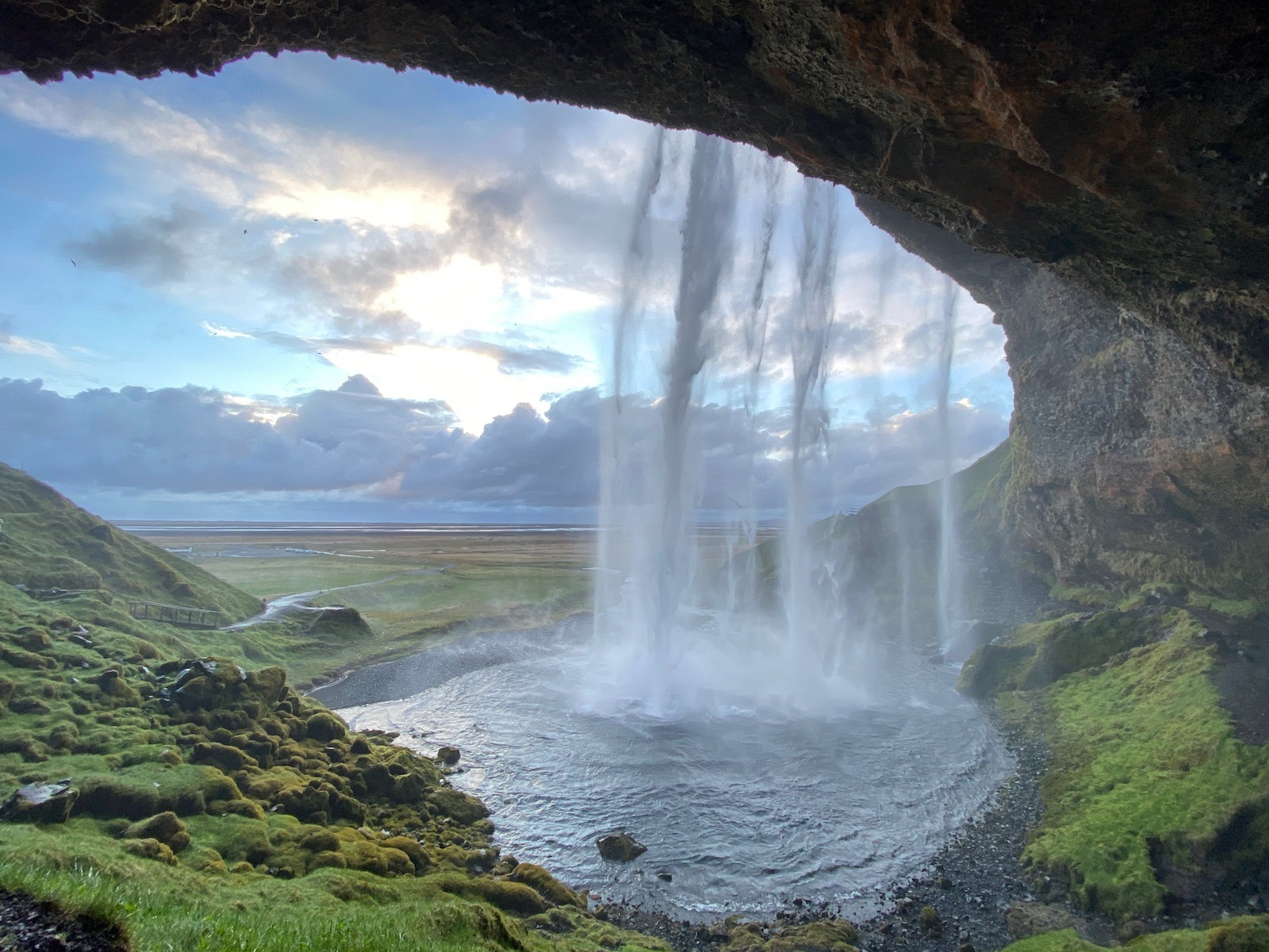 Water fall and scenic view in Iceland.