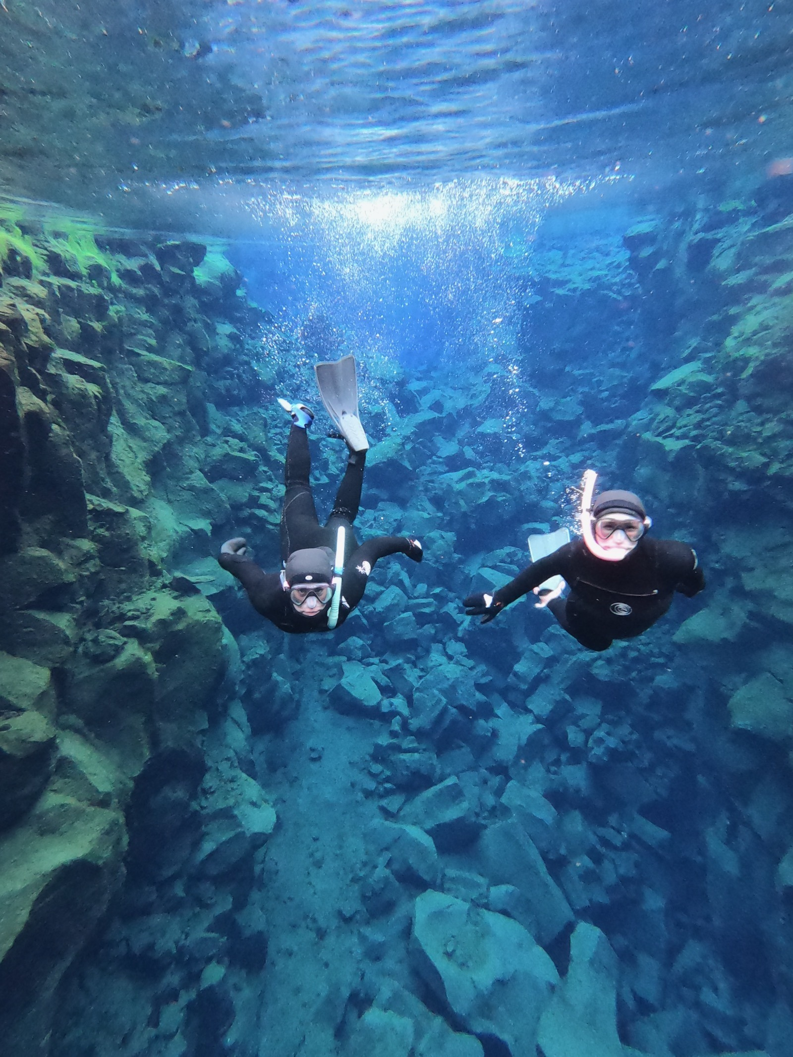 Snorkeling in the Silfra Fissure.